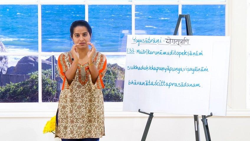 Yoga Sutra 1 33 With Anuradha Choudry
