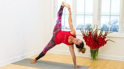 side crow pose with shelley williams