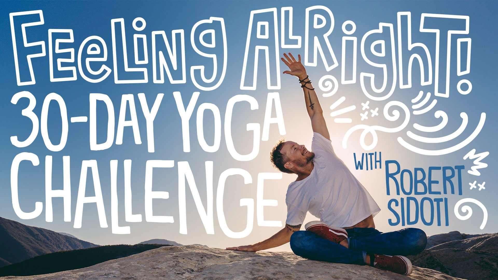 Feeling Alright: 30-Day Yoga Challenge Artwork
