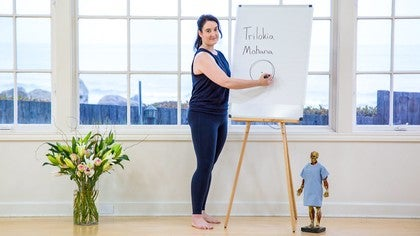 Trilokia Mohana with Kristin Leal