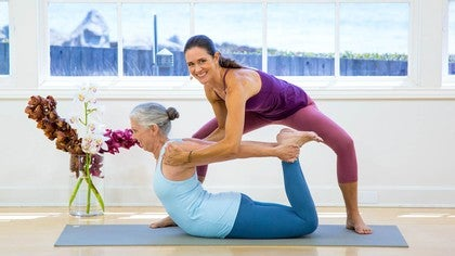 dhanurasana bow pose with rosemary garrison