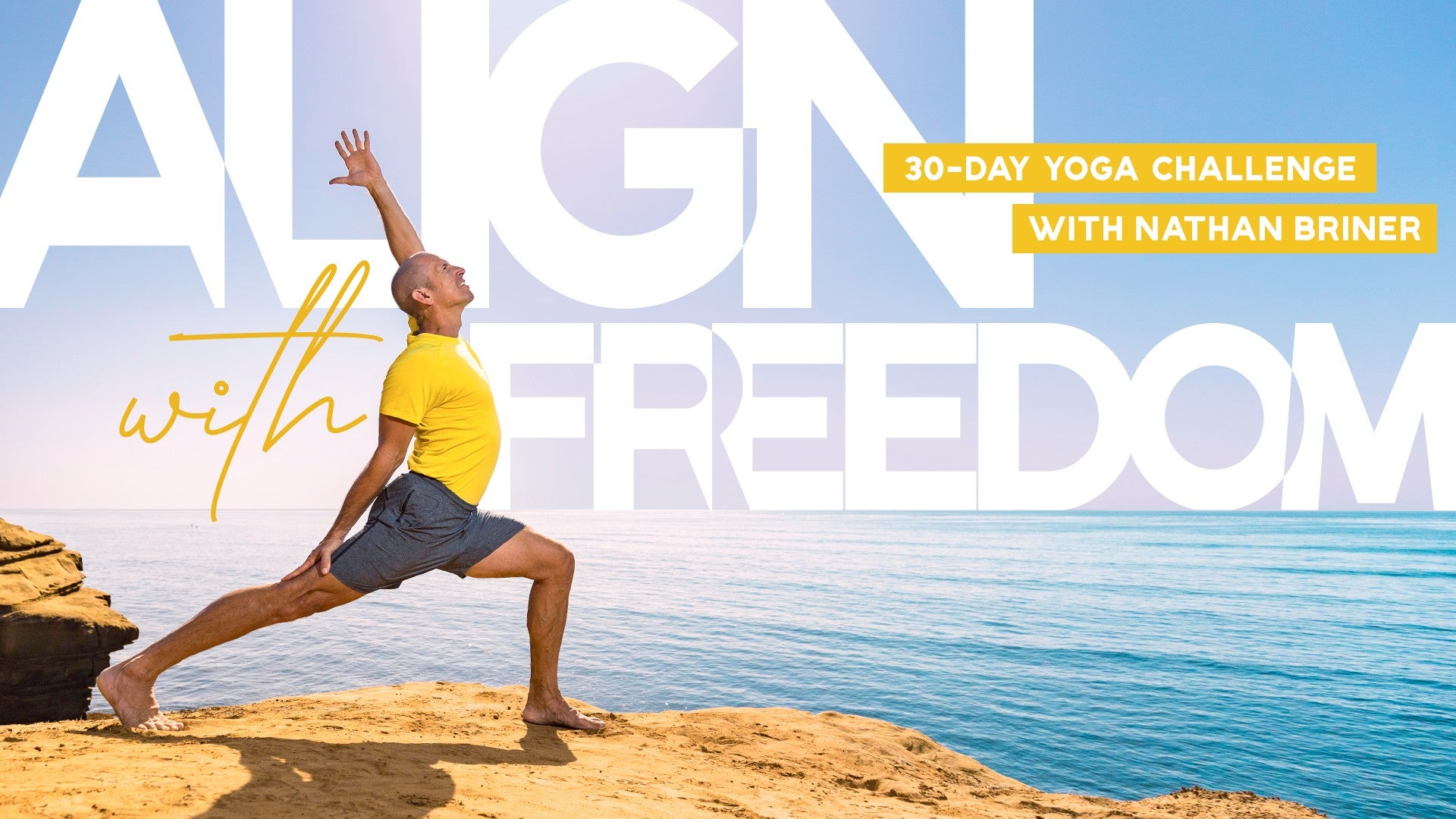Align with Freedom: 30-Day Yoga Challenge Artwork