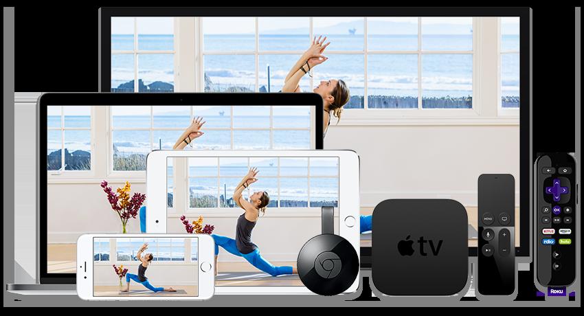 iPhone, iPad, Apple TV, Laptop, Desktop, TV, Roku, and Chromecast devices